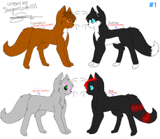 Warriors Refs 1 by Pastel-Kitty