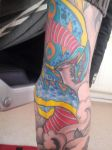 Colour Snake Tattoo by Beney101