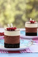 Chocolate mousse mini cakes by kupenska