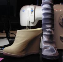 Armored Psylocke shoes by silverfaction