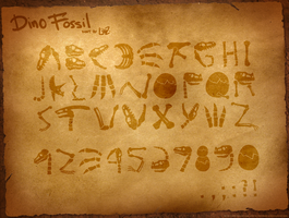 dino fossil font by lilibz