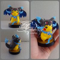 Mega Charizard X custom Amiibo by SingingNight