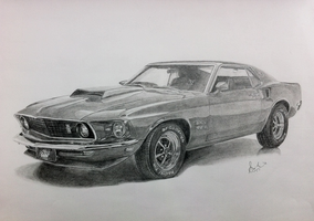 Ford Mustang 1969 Boss 429 by ms24khan