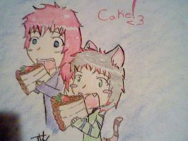 TaDa and Marly love Cake by TaDa-The-Neko-Panic