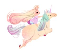 Princess and Unicorn by ECALA