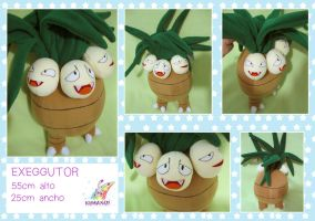 EXEGGUTOR POKEMON PLUSHIE by chocoloverx3