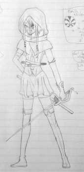 Dungeons and Dragons character by BlondeFromHell