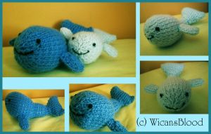 Knitted Whale Plushies by WicansBlood