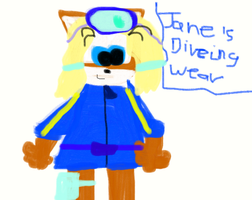 Jane's diving wear by ANGRYBIRDSLOVER15