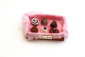 Vintage Inspired Box of Assorted Chocolates by ClayConfectionary