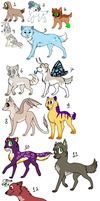 Adoptables - 5 points each by RivotAdopts