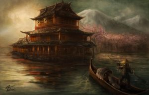 Japanese palace by fmikeart