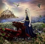 Daenerys and her Dragons by TaniaART