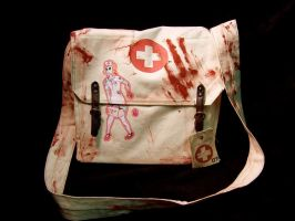 Zombie Nurse Messenger Bag by StrangelandOutfitter