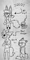 Morons by Cookie-and-her-foxes