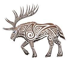 Tribal Elk by Kayosa