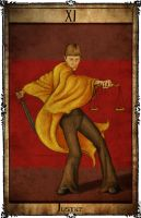 Bowie Tarot Collection - XI - Justice by Triever