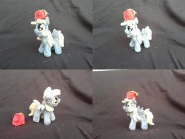MLP FiM handmade 7 inch plush: Filly Derpy, in fez by vulpinedesigns