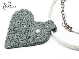 Granite Heart by OrionaJewelry