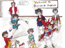 Digimon Daycare by timebaby3