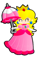 Princess Peach with Parasol by Peach-X-Yoshi