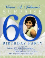 60th Birthday Invitation by AnotherBcreation
