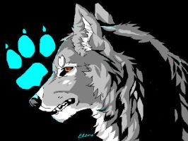 WOLF paint by SunsetDragonfly