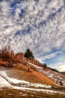 Over the snowy hills HDR by ScorpionEntity