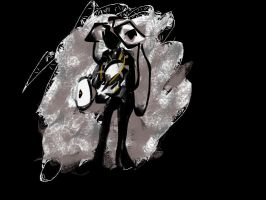 GLaDOS puppet cosplay scribble by YachiruFoxTailFairy