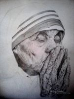 WIP: Mother Teresa by keofome