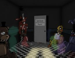 FNAF Wallpaper: And Everyone is Red... by InsanelyADD