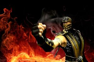 scorpion mortal kombat by john944