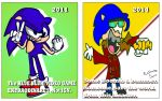 Sonic the Hedgehog. Then and Now. by AlekidThunder