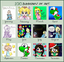 2010 summary of art by Peach-X-Yoshi