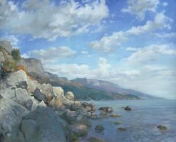 East View. A Seascape in the Vicinity of Foros by DChernov