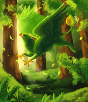 Forest Frolic by Elzux