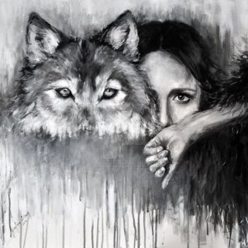 WOLF by Jozefina Litwin |acrylic on canvas by JozefinaLitwin