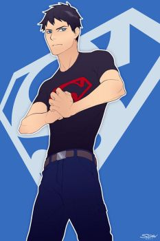 Young Justice Superboy by paper-hero
