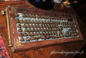 Steampunk keyboard by GreatShinigami