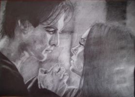 Damon and Elena by Lilleandra