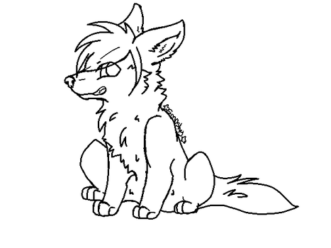 scene wolf lineart(free to use) by P0CKYY