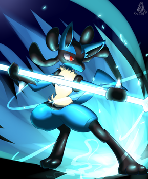 Lucario, bone rush! by bsh0404