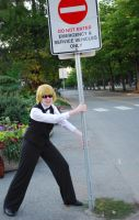 AE 2010 Shizuo vs Stop Sign by Imasupermuteant