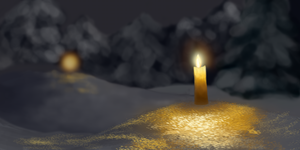 Candles in Snow by bernhardRiedl