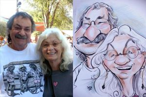 Caricature Couple 4 by StarMasayume