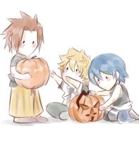 pumpkin carving team by CherryStarwberry7