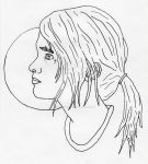 Ellie With Cross Facial Tattoo by ryancawkwell
