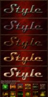 Styles for Photoshop Metal and Stone 2 by Lyotta