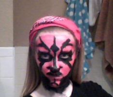 Right when I finshed my Darth Maul make-up by AbbyCatWolff