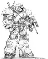 RIFTS NG Protege Power Armor by ChuckWalton